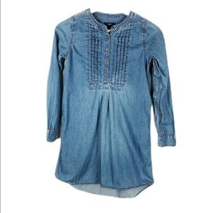 Gap Factory Kids Girls Denim Long Sleeved dress